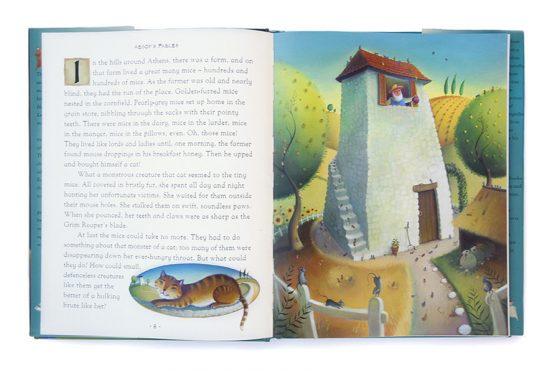 Farmers House and vignette of ginger cat. Richard Johnson illustrator.