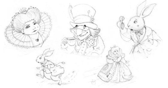 Sketchbook Drawings | Alice in Wonderland