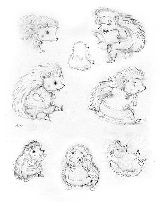 Hedgehog Character Development - Sketchbook
