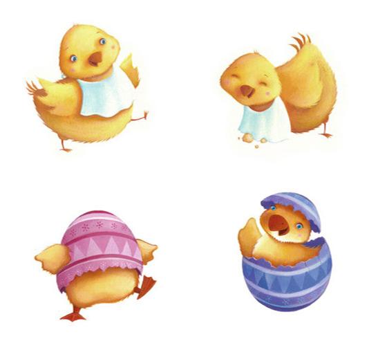 Cadburys Easter Chicks. Richard Johnson illustrator.