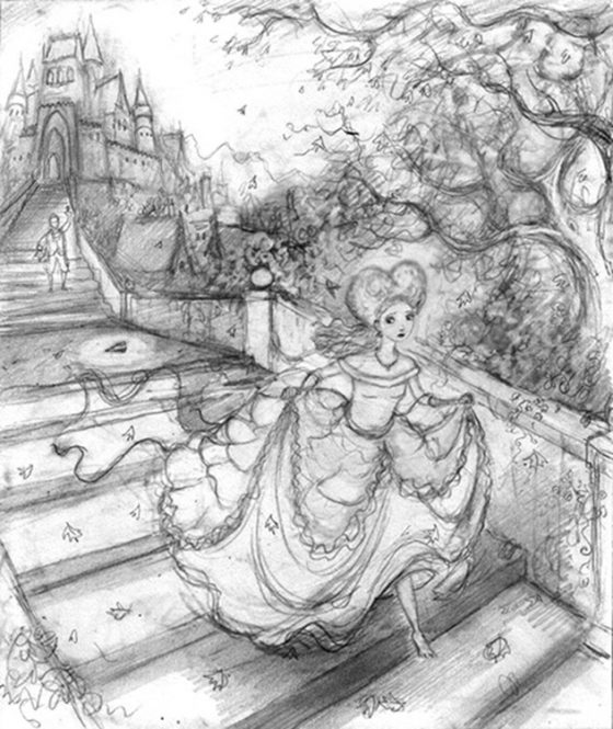 Compositional Drawing Cinderella