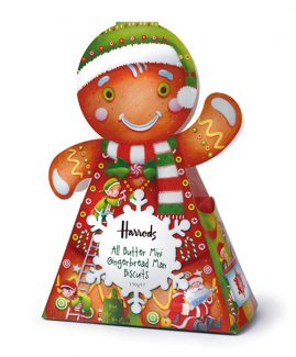 Harrods Christmas Food Packaging - Gingerbread Man