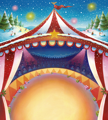 Christmas Circus Background Image | M&S