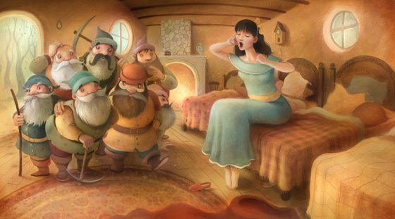 SnowWhite Awakes - The Seven Dwarves