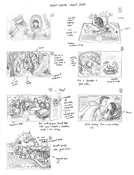 Rough compositions for book layout.