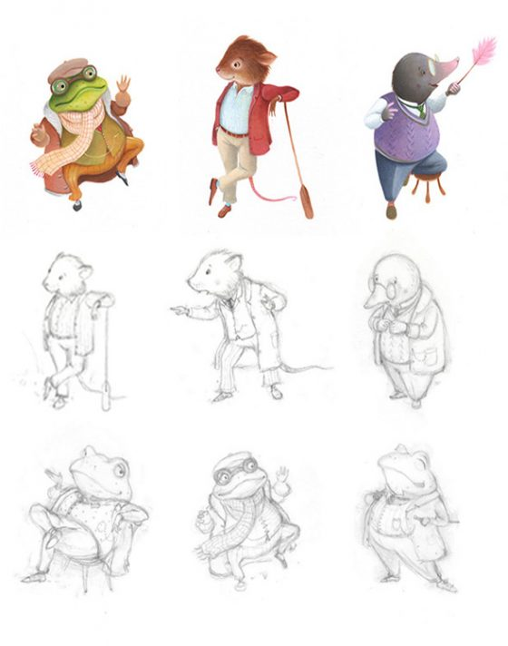 Wind in Willows - Character Designs