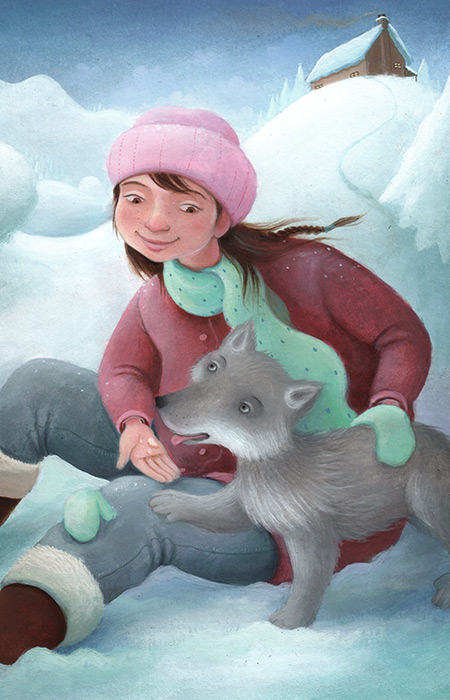 Girl and Wolf Cub