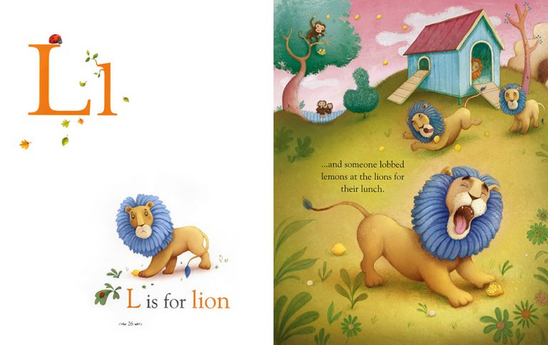 Richard Johnson Illustrator – L is for lion