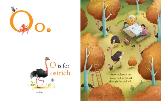 O is for Ostrich