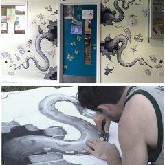 School Visit Mural