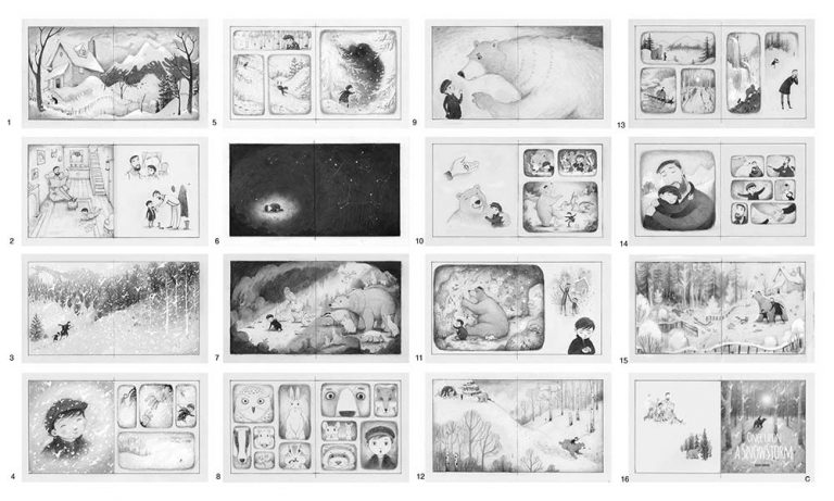 Storyboard – Once upon a Snowstorm